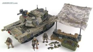 getlinkyoutube.com-Mega Bloks M1 Abrams Call of Duty Heavy Armor Outpost review!