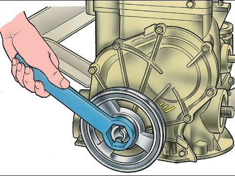 Шкив коленчатого вала быстрое откручивание (замена лобового сальника)
