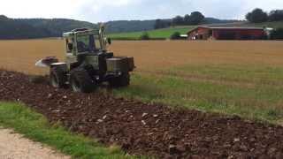 MB Trac 900 Turbo- Ackern mit 4-Scharpflug  / MB Trac Treffen Schemmern 2013