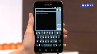 getlinkyoutube.com-Samsung Galaxy Note - S-Pen Writing a Text Message