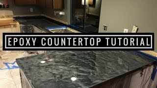 getlinkyoutube.com-Countertop Resurfacing with Metallic Epoxy Silver and Charcoal