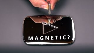 getlinkyoutube.com-Magnetic Silver Play Button?