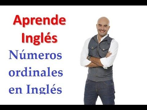 Números ordinales en Inglés