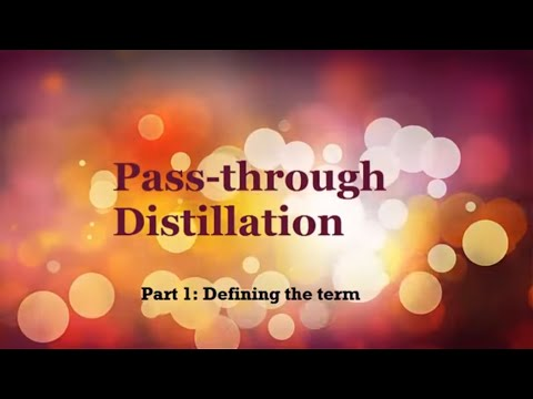 Pass-through Distillation Part 1