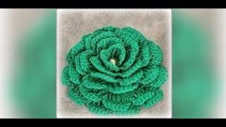 getlinkyoutube.com-Как связать цветок крючком для начинающих. Crochet flowers