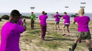 getlinkyoutube.com-【GTA5】ブチギレ!ボイチャへの集団ドッキリ中のハプニング【4545隊】