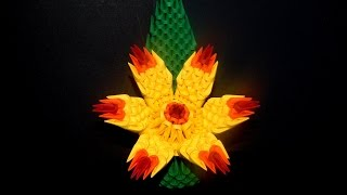 3D origami flower tutorial      DIY Paper Crafts flower