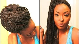 getlinkyoutube.com-2 Super Easy Ways I Style My Box Braids (Requested)