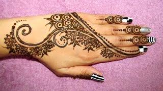 getlinkyoutube.com-Simple and cute Mehendi design-henna - mehndi on back of Hand