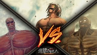 getlinkyoutube.com-Attack on Titan / Eren Vs Armored Titan & Colossal Titan Gameplay - Final Mission