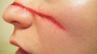 リギッドコローディオン傷メイク方法(化粧)Rigid Collodion Wound Makeup Tutorial