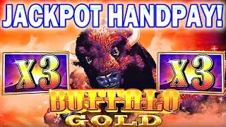 ★★JACKPOT HANDPAY ★★ BUFFALO GOLD SLOT MACHINE BONUS MEGA BIG WIN Aristocrat Slots