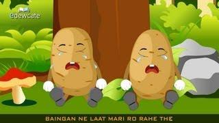 getlinkyoutube.com-Edewcate Hindi Rhymes - Aloo Kachaloo Beta Kahan gaye the