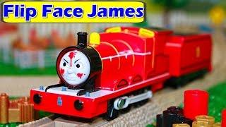 getlinkyoutube.com-THOMAS AND FRIENDS TRACKMASTER FLIP FACE TALKING JAMES Thomas the Tank Toy Trains Hero of the Rails