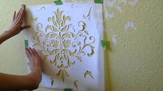 getlinkyoutube.com-Allover Wall Stenciling