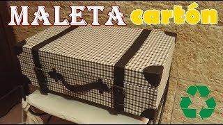 getlinkyoutube.com-Maleta antigua de decoración hecha con cartón reciclado ♻