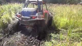 getlinkyoutube.com-Rzr 900 in some thick dried up pond mud