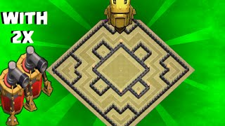 Clash of Clans - th10 war base / trophy base / anti gowipe / with 2 air sweeper / speed build