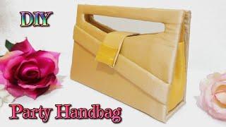 getlinkyoutube.com-DIY crafts: how to make a easy party handbag with cardboard no sew - handmade - Youtube - Isa ❤️
