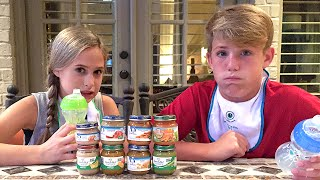 getlinkyoutube.com-The Baby Food Challenge (MattyBRaps vs Liv)