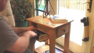 getlinkyoutube.com-Handmade End Table / Nightstand with Secret Hidden Compartment for Handgun, Pistol, Revolver