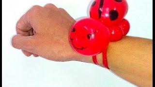 getlinkyoutube.com-How To Make A Ladybug Balloon Bracelet - Balloon Animals Palm Beach