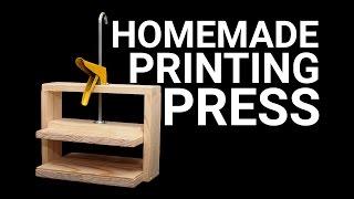 getlinkyoutube.com-How To Make a Simple Printing Press