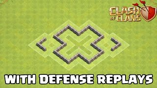 getlinkyoutube.com-Clash Of Clans - TH3 Defense Strategy BEST Town Hall 3 FARMING Base + Defense Replays 2015