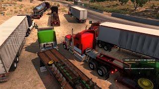 getlinkyoutube.com-Multiplayer American Truck Simulator | Convoy de San Diego a Eureka | Kenworth W900