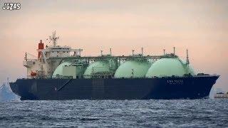 [船] LNG VESTA LNG tanker LNGタンカー Tokyo Bay 東京湾 浦賀水道 2013-DEC