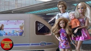 getlinkyoutube.com-Барби 2017 все серии подряд Барби поезд без тормозов, Челси и мошенница обманщица