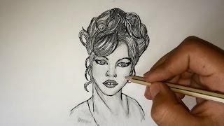 getlinkyoutube.com-Comment dessiner un portrait ? Inspiration | facile pour débutant