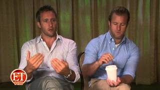 Alex O'Loughlin and Scott Caan on ET