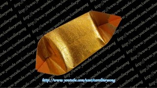 getlinkyoutube.com-【CYS教程】敬神折纸~元宝の三(Origami~Gold Ingot)