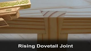 Rising Dovetail Joint Cut By Hand - 'Impossible Dovetail'