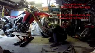 getlinkyoutube.com-Honda CRF 250L install of motard wheels.Time lapsed!