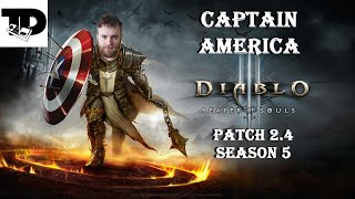 Just like Cap! - LoN Blessed Shield Crusader | Diablo 3, Patch 2.4, Season 5 - Ep. 3