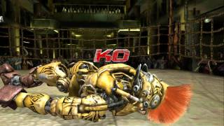 getlinkyoutube.com-Real Steel The Game: All Fights (Xbox 360) [HD]