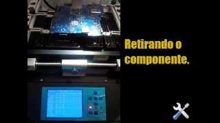 getlinkyoutube.com-Reballing Macbook Pro A1261 Conserto No video nao liga defeito
