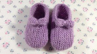 getlinkyoutube.com-Пинетки для маленькой девочки от 0-3 и 3-6 месяцев. МАСТЕР КЛАСС. ВЯЗАНИЕ