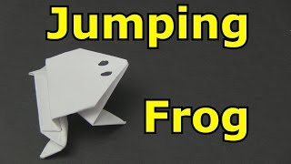 getlinkyoutube.com-How to Make a Paper Frog that Jumps High and Far