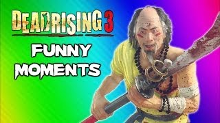 Dead Rising 3 Funny Moments Gameplay 7 - Robot Claw, Mini Chainsaw, Zhi Monk Weapon, Epic Dancing!