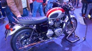 getlinkyoutube.com-2016 Triumph Bonneville T120 and T120 Black - First Look