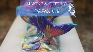 getlinkyoutube.com-Making & Cutting Sirena Kai Cold Process Soap    Love Is Sweet Shop