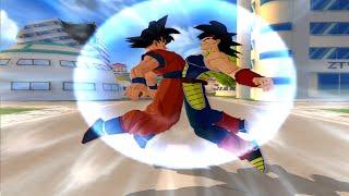 getlinkyoutube.com-Goku And Bardock Fusion! Bardku?!   DBZ Tenkaichi 3 (MOD)