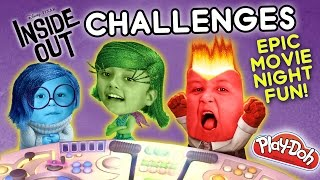 getlinkyoutube.com-INSIDE OUT CHALLENGE x 2 - Movie Night Fun w/ Playdoh & Clothes (FUNnel Vision Disney Sillyness)