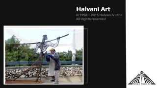 Halvani Art - The artist at work