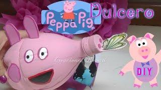 getlinkyoutube.com-Dulcero de Peppa Pig Reciclado (botellas plásticas)Alcancia o hucha cerdito