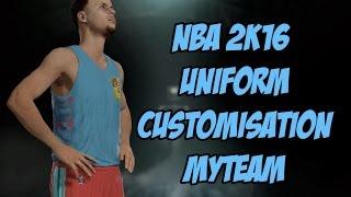 getlinkyoutube.com-NBA 2K16 MyTeam Uniform Customisation!!