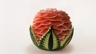 getlinkyoutube.com-Watermelon Carved Model 3 By J Pereira Art Carving